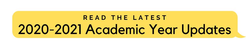 2020 2021 Academic Year Updates